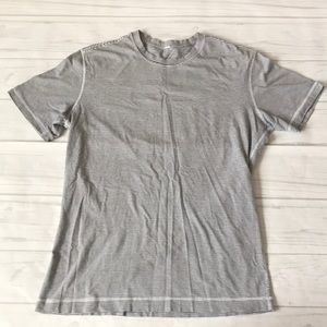 Lululemon men's shirt sleeve striped shirt